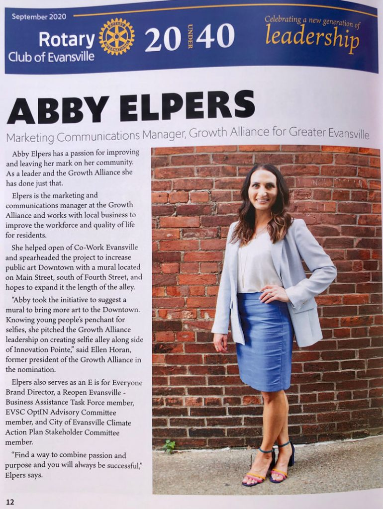 Abby Elpers, 20 Under 40